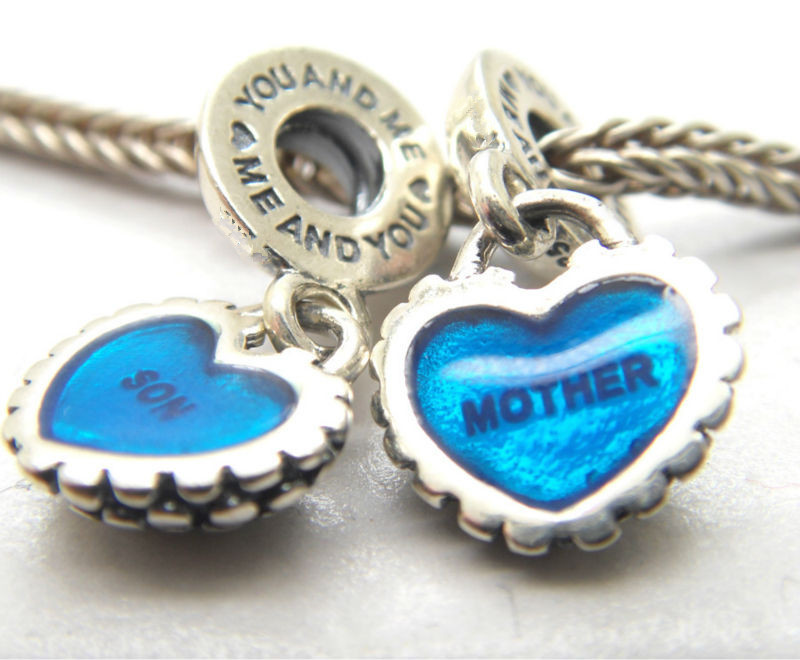 Authentic-Silver-of-My-love-Heart-font-b-Mother-b-font-and-font-b-Son-b