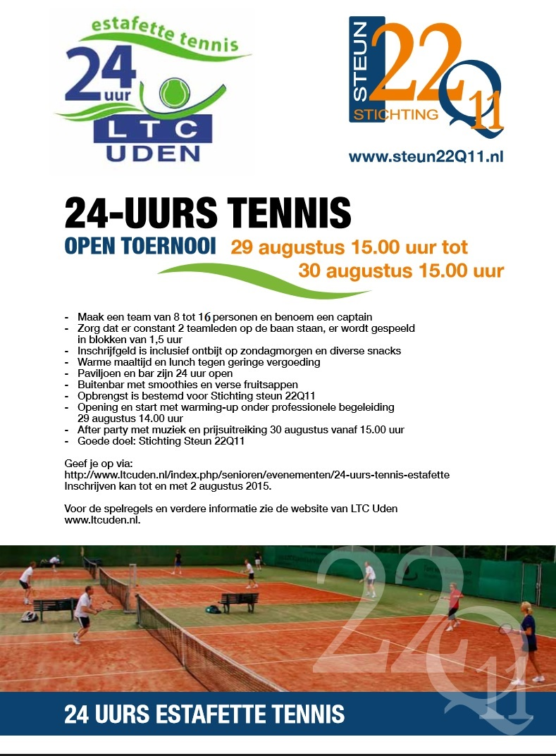 24 uurs tennis flyer